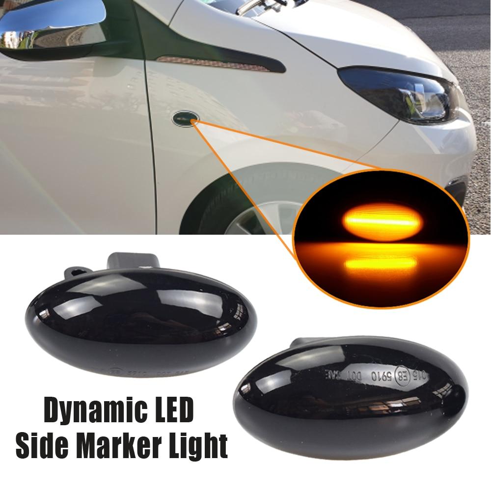 Для Peugeot 206 307 407 107 607 Citroen C1 C2 C3 C5 светодиодный динамический сигнал поворота светильник