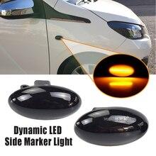 For Peugeot 206 307 407 107 607 For Citroen  C5 LED Dynamic Turn Signal Light Flowing Water Side Marker Indicator Light