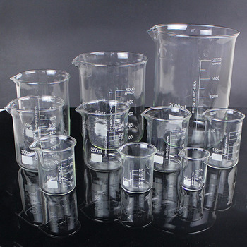 5pcs/set 25ml/50ml/100ml/150ml/500ml Glass Beaker Chemistry Experiment Labware For School Laboratory Equipment watsons 25ml 15g 25ml