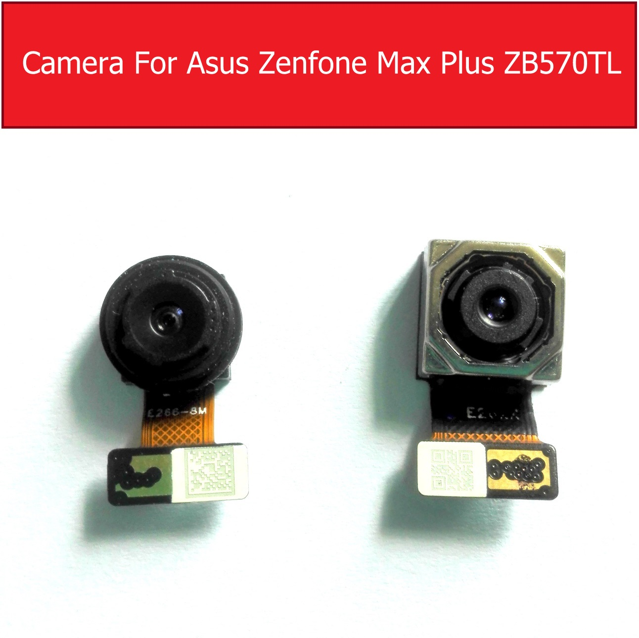 Front Facing & Back Rear Camera Module For Asus ZenFone Pegasus 4S Max Plus X018DC ZB570TL Small Main Camera Replacement Parts