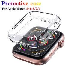 Защитный чехол для apple watch 5 4 3 2 1 40 мм 44 360 прозрачный