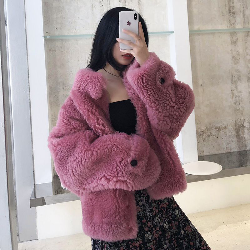 Natural Real Fur Coat Female 100% Wool Jacket Winter Jackets Women Clothes 2020 Korean Vintage Double Faced Fur Tops Hiver 19004