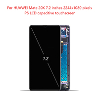Super AMOLED For HUAWEI Mate 20 X LCD Digitizer Touch Screen with Frame For HUAWEi Mate 20X Display For HUAWEI Mate20 X 2018 LCD