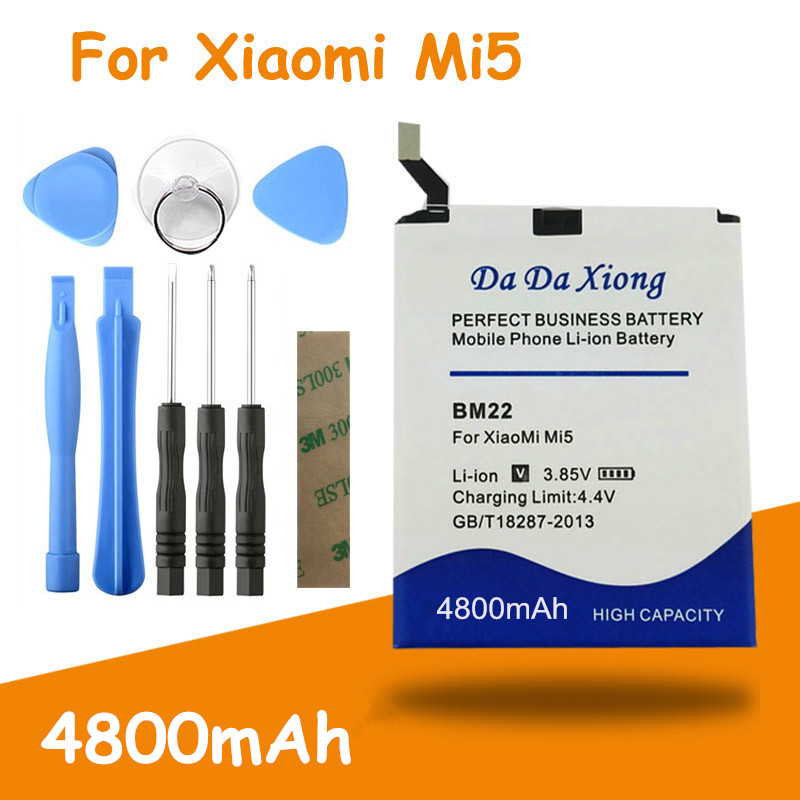 High Capacity 4800mAh BM22 Battery High Quality For Xiaomi 5 Mi5  M5 MI 5 Replacement Batteries + Free Tools