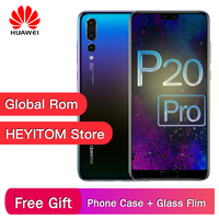 Original Huawei P20 Pro 4G LTE mobile phone Kirin 970 Android 8.1 6.1 2440x1080 6GB RAM 128GB ROM NFC 40.0MP IP67