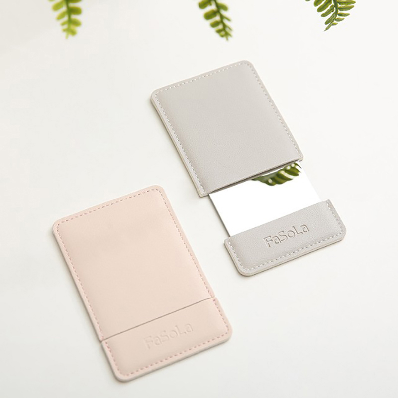 Ultra-thin Makeup Mirror Vanity Mirror Cosmetic 2 colors Make Up Pocket Rectangle Foldable Compact Makeup Folding Mirrors