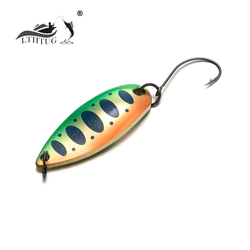LTHTUG Pesca Isca Artificial Bait MIU Trout Spoon 2.8g 3.5g 4.2g 32mm Metal Fishing Lure Spoon Lure For Trout Perch Pike Salmon