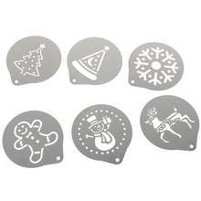 Coffee Stencils Chocolate Cappuccino Barista Stainless-Steel DIY Metal 6pcs/Lot Art-Mould