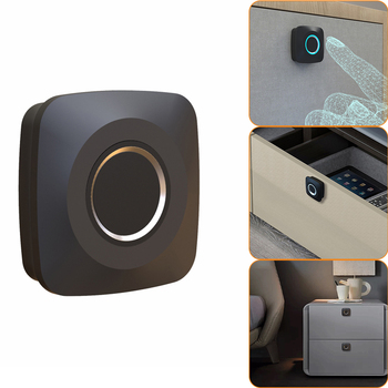 Отпечаток пальца висячий на батарейках БЕСКЛЮЧЕВОЙ цифровой замок для спортзала, школы, выдвижного ящика, рюкзака