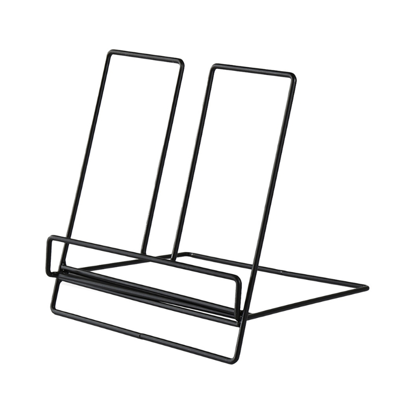 Multifunction Geometric Storage Rack Wrought Iron Organizer Tablet Book Magazine Display Support Stand Holder Home Office Access
