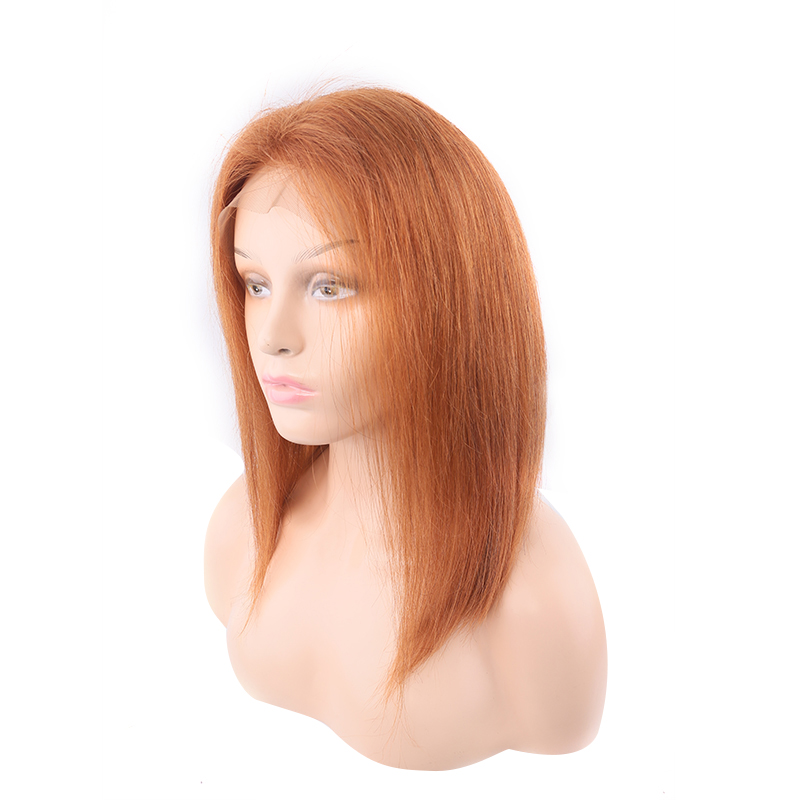 Pre Plucked 13x4 Lace Front Wigs 30 Brown Brazilian Straight Human Hair Lace Wigs With Baby Hair 150% Density Remy Hair Wig KEMY