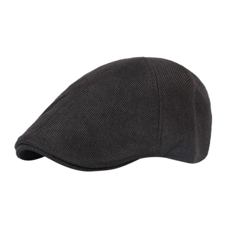 Running Cap Classic Glof Hat Gentlemen Breathable Retro Duck Hat Men Cap Hat British Wind Coarse Linen Beret Sports Hat