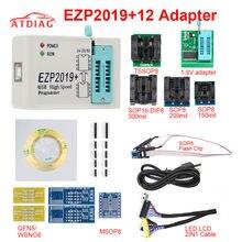 Versão mais recente EZP2019 High-speed USB SPI Programador ezp 2019 com 12 Support24 25 93 25 EEPROM Flash BIOS tomada de Chip + 7
