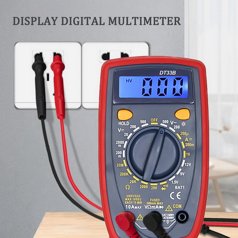 DT33B Multimeter Voltage Resistance Capacitor DC/AC Testing Electrical Instruments And Meters-1