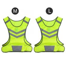 Reflective-Safety-Vest Running-Vest Sports-Jacket Led-Light Cycling Outdoor for Visibility