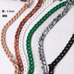 (10 Piece/lot) New Handbag Retro Art Beaded Acrylic Chain 1.5cm*60cm Accessories