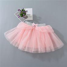 Юбка сетчатая для девочек детская одежда с бантом в виде звезд