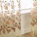 Froral Tüll Vorhänge für wohnzimmer das Schlafzimmer Drucken Sheer Voile Vorhang für Küche Fenster Screening Blinde Vorhänge Home Decor-in Vorhänge aus Heim und Garten bei