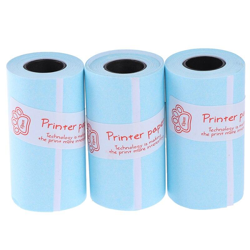 3 рулонов печать наклеек Бумага рулон прямая Термальность Бумага с самоклеющейся 57*30 мм специальные внутренние подкладки для PeriPage A6 карман ...