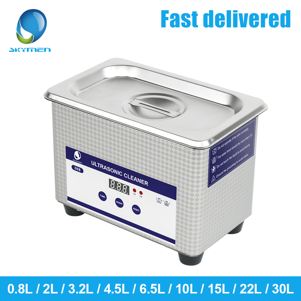 Skymen Ultrasonic Cleaner Bath 0.8L 2L 3.2L 4.5L 6.5L 10L 15L 22L 30L  Digital Ultrasound  Ship From Germany ,Russia .US