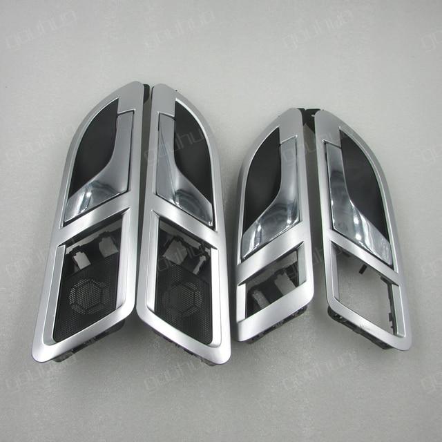 Cho 08 12 VW Lavida/Skoda Siêu 01 08 Bên trong cửa tay cầm bên trong tay cầm nội bộ cờ lê mở cửa cờ lê mạ Bạc