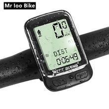 цена на Wireless bike Computer Waterproof Stopwatch MTB Road Cycling Bicycle Speedometer Odometer bike Computer velocimetro bike cateye