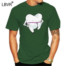 Dental Floss Hygienist T Shirts for Men Teeth Dentist Summer Clothes Short Sleeve Funny T-Shirt Crewneck Pure Cotton Tees Tops