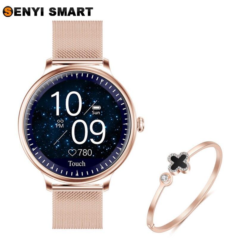 Dames 2020 nouveau costume montre intelligente IP68 étanche et mince machine corps et taux d'esprit alarme HD écran fréquence cardiaque bracelet intelligent