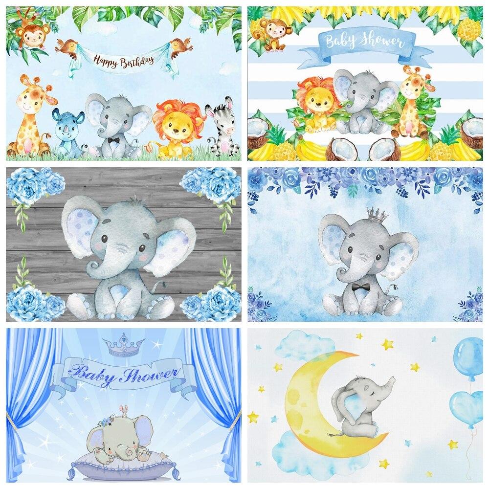 Слоник для детского дня рождения фоны для фотосъемки цветок вечерние Семейные фотосессии персонализированный плакат фотофоны