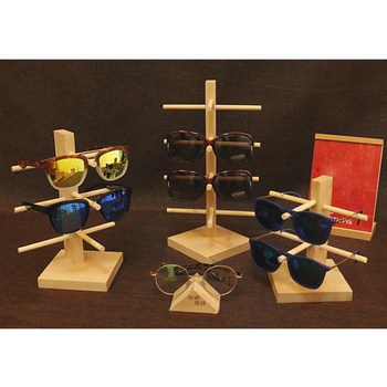 3/4/5/6-Layer Wood Display Rack Stand Glasses Sunglass Eyeglass Holder Organizer image