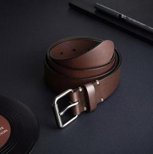 Image 4 - Youpin Qimian Men Belt Male Genuine Leather Strap Vegetable tanned Cowhide Belt For Men 3.8CM High Quality Pin Buckle Waist Belt