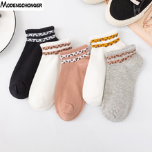 2019  New Leopard Print Socks Korean Fashion Cute Style Womens Boat Student Cotton Breathable And Comfortable