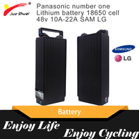 Samsung LG 10A 22A 48V Lithium Battery For Electric Bike With Charger For Scooter Battery Rack Electric Bike Accessories Parts