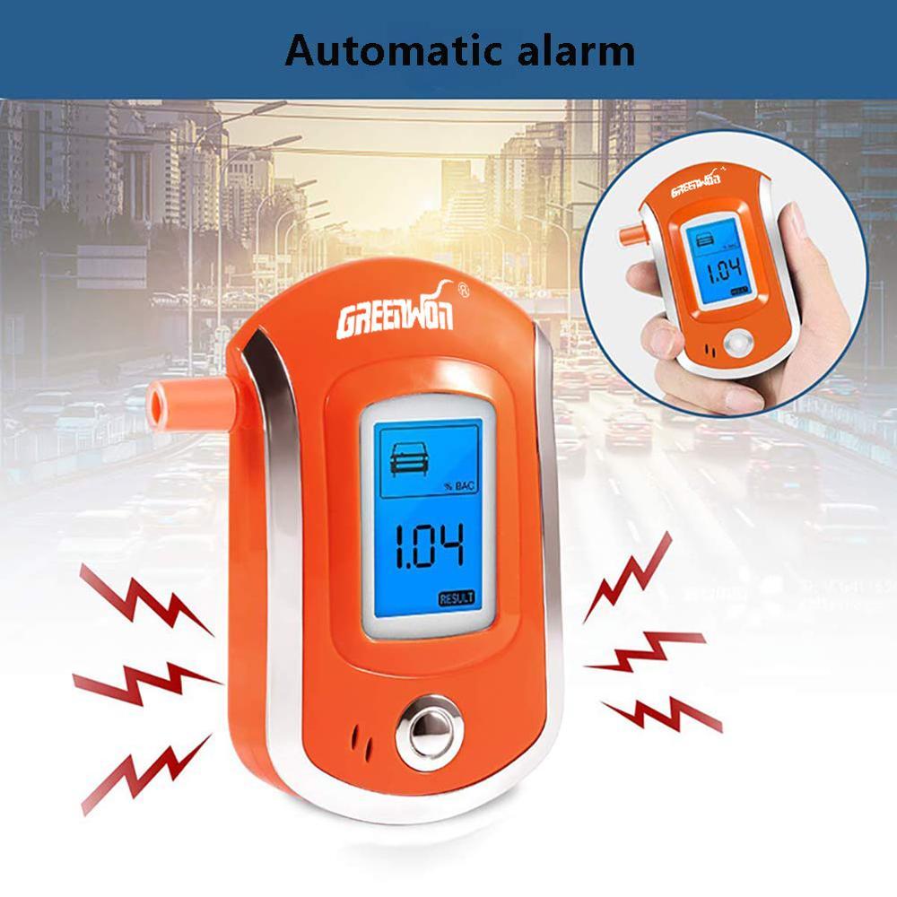GREENWON-alcoholímetro Digital AT6000, con caja de bloqueo, detector de Alcohol etílico