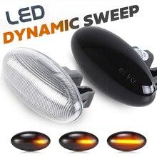 LED 사이드 마커 라이트 리피터 램프 푸조 206 207 307 407 파트너 시트로엥 전문가 Citroen Berlingo Xsara Elysee Jumpy C3 C5