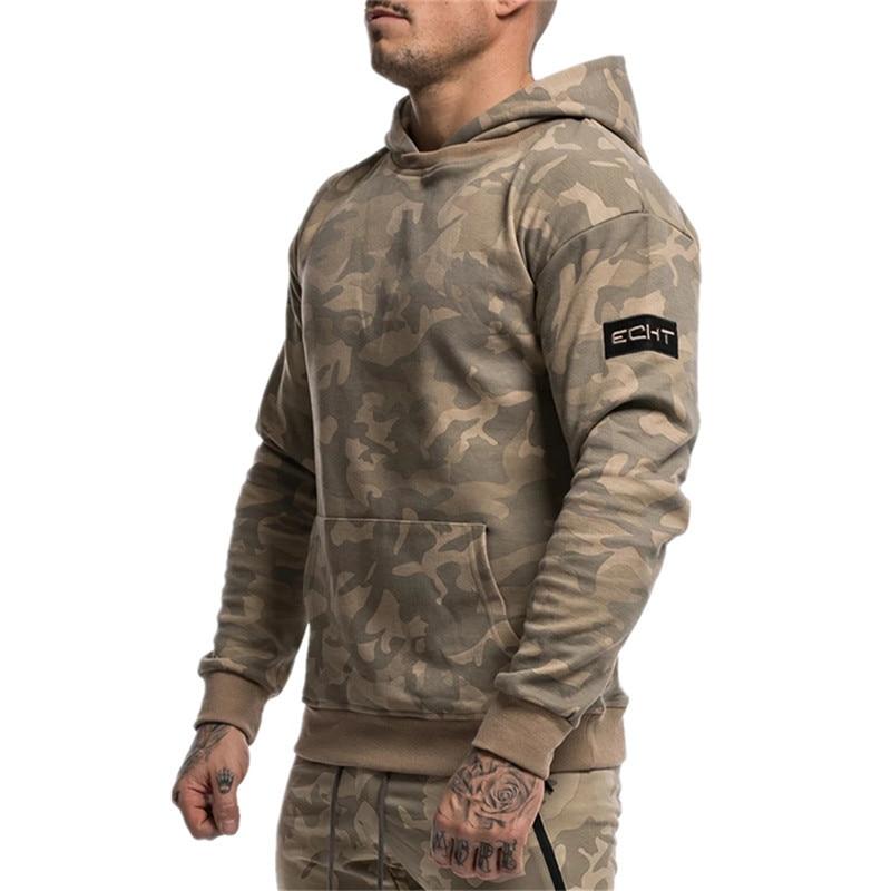 YEMEKE New Fitness Hoodies Men Autumn Fashion Brand Fashion camouflage Sportswear Sweatshirt Men's Track Outdoor Sweatshirts