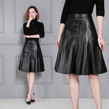 2020 Women New Real Genuine Sheep Leather Skirt K28 2020 new fashion real genuine sheep leather skirt g16