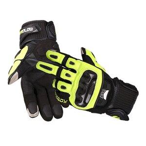 Image 5 - MOTOBOY Motorcycle Gloves Carbon Fibre Motocross Gloves Sheepskin Moto Gloves Touch Function Motorbike Gloves Guantes Luvas
