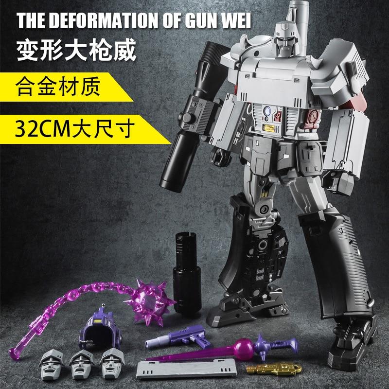 32cm Weijang Metal parte modelo MP36 NE 01 arma de guerra transformación MPP36 G1 MP36 colección de gran tamaño viajero figura de acción regalos