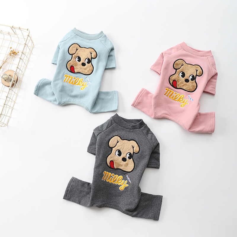 Autumn and Winter Clothes for 2019 Autumn and Winter New Pet Four Feet Clothes Cotton Plus Velvet Clothes for Small Dog Winter