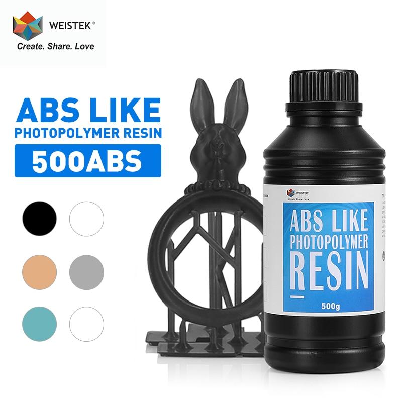 WEISTEK 3D Printer UV Resin LCD 0.5kg ABS Like Photopolymer Resin Printing Material For 405nm 3d Res