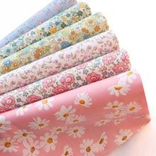 145x50cm pastoral floral popelina tecido de algodão roupas para crianças diy pano fazer cama quilt decoração para casa 160-180 g/m