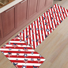 Independent Day Retro Usa Flag Star 2 Piece Mat For Kitchen Bathroom Accessories Set Dirt Debris Mud Trapper Floor Carpets Area(China)