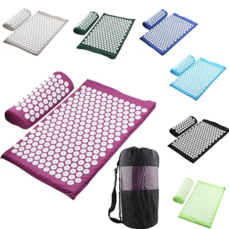 Массажная подушка, массажный коврик для йоги, акупрессура, коврик для снятия стресса, боли в спине, шип, массажный коврик Массаж Диванная подушка      АлиЭкспресс - ТОП-10 массажеров