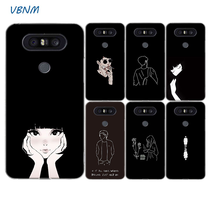 Abstract Character Fashion Silicone Shell Case For LG G8S G7 G6 G5 G4 V40 V30 V20 V10 Q7 Q8 Q6 K8 K10 2018 2017 Cover
