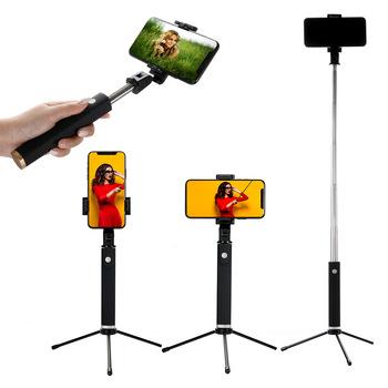 K09 Selfie Stick jednoczęściowy składany z wielkie lustro wielofunkcyjny jednoczęściowy kijek do Selfie Bluetooth Selfie Stick Selfie Stic tanie i dobre opinie SelfieCom