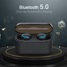 Q32 Wireless Bluetooth 5.0 Headphones TWS Stereo Bass Headset Sports Earbuds 1500mAh Charging Case Power Bank VS i1000 i10