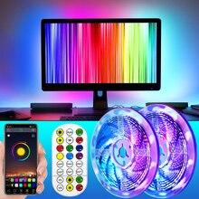 Bluetooth RGBWW LED Strip Light RGB Warm White , Flexible Ribbon, DIY Led Light Strip RGB Tape Diode with adapter