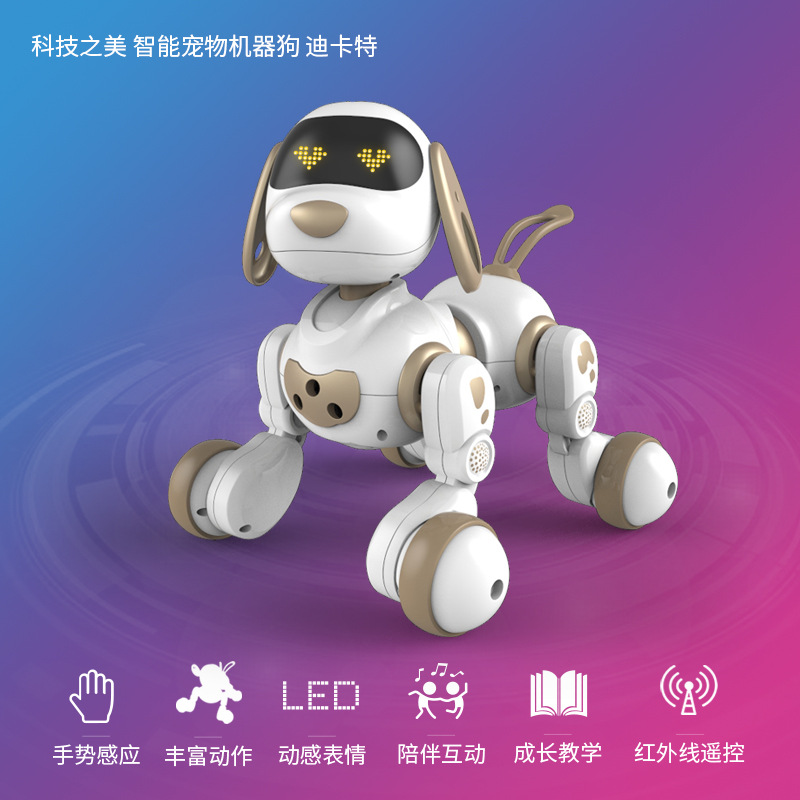 Wireless Remote Control Intelligent Robot Dog Dialogue Electronic Pet Chinese Translation Children Early Childhood Educational E