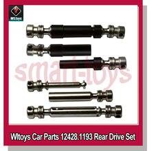 Eixo traseiro 12428 metal original, eixo de transmissão universal para brinquedos 12423 12428 rc peças do carro